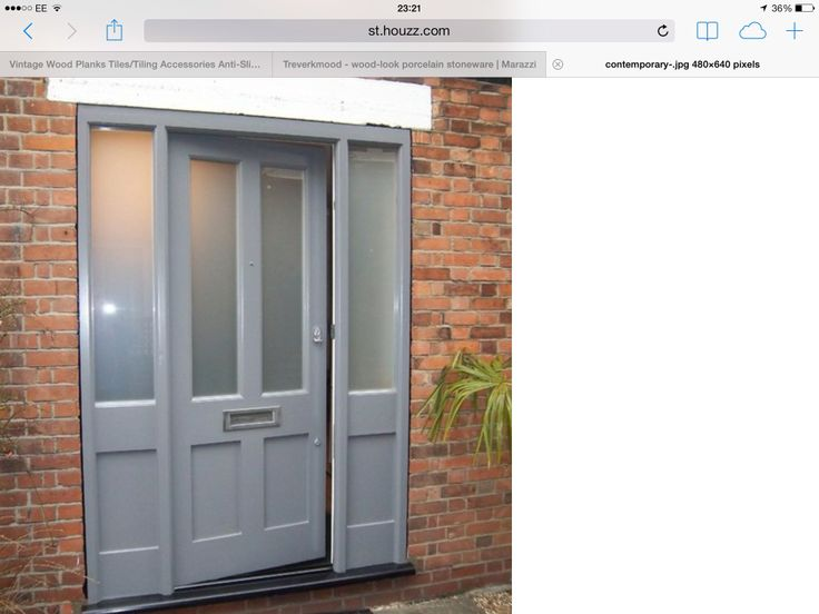 Trad door but contemporary colour to link to inside