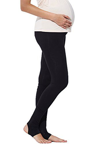 e8251762abfdd Sweet Mommy Maternity Bamboo Fiber Leggings Stirrup TR Black L -- You can  find more details by visiting the image link.Note:It is affiliate link to  Amazon.