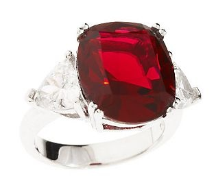 Smithsonian Simulated Carmen Lucia Ruby Ring