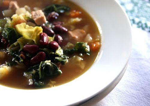 Sopa de Carne com Feijão Vermelho