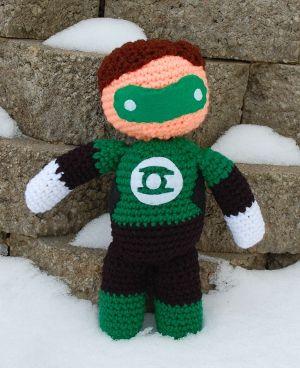 My Hero Green Lantern Plush Crochet Pattern - Inner Child Crochet :: would need to be john stewart, tho-- not hal.