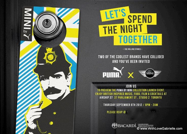 Let's Spend The Night Together Puma and Mini Party