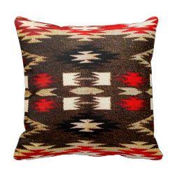 Native American Navajo Tribal Design Print Pillows