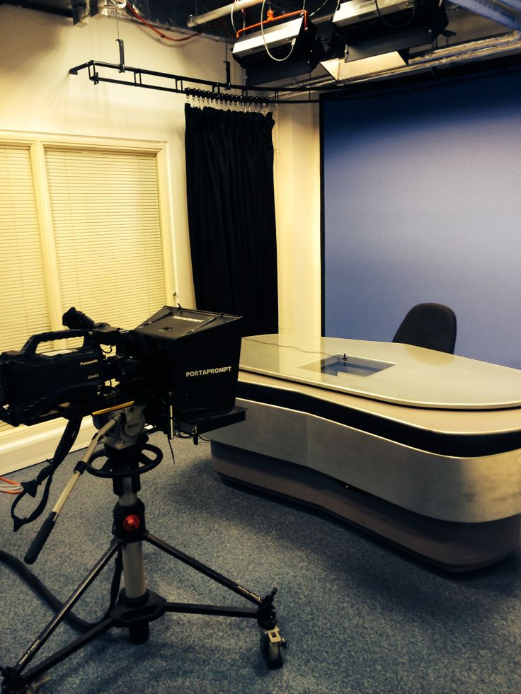 Our television studio set up for our first broadcast at 1pm. Watch it live at http://buzz.bournemouth.ac.uk/