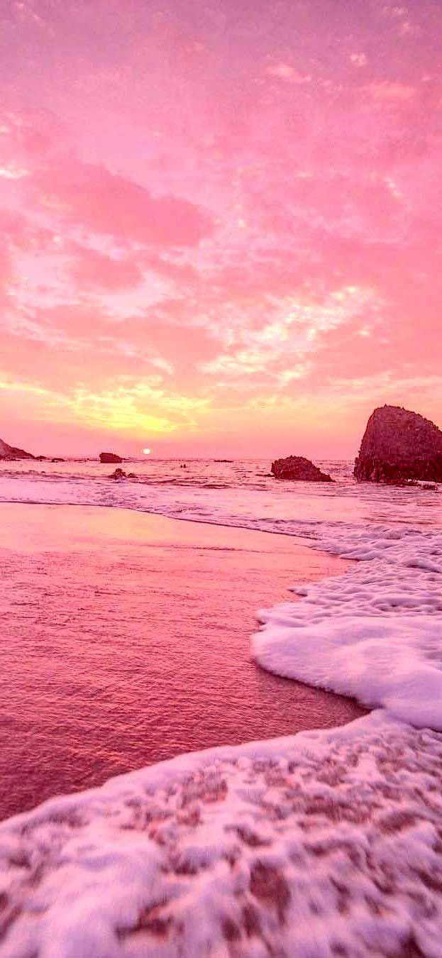 Iphone X Tapete Sonnenuntergang Mit Pastellrosa Gelb Vibes S Retro Hd Tapete Iphone Sunset Puestas De Sol Color Amarillo Pastel Fondos Color Pastel