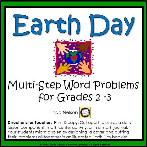 FREE Challenge your math experts with these multi-step word problems, themed for Earth Day