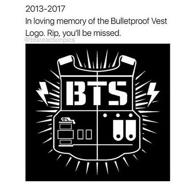 The new logo fits (To lazy to explain so look up on YouTube why or go on BTS amino)
