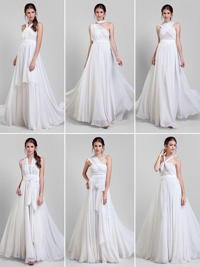 ts couture® vestito da sera convenzionale - vestito convertibile plus size / minuta una linea di pavimento-lunghezza del georgette - EUR €78.39