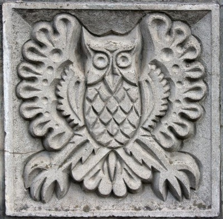 Bas-relief owl