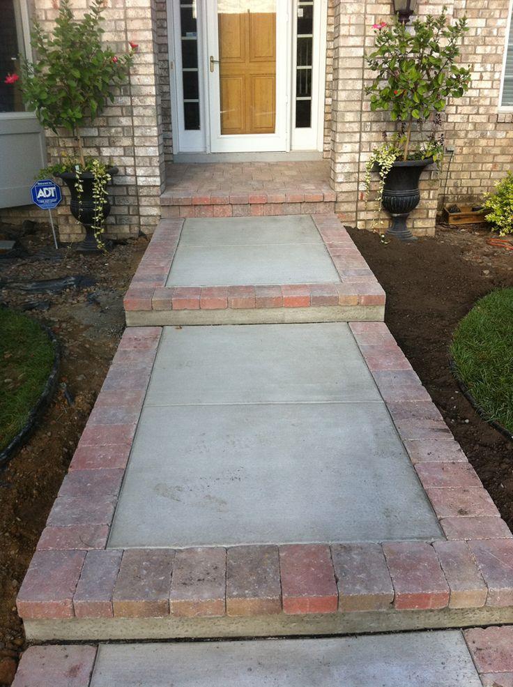 Brick Sidewalk Brick Paver Sidewalks And Steps Design