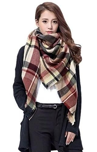 2016 Scarf Women Fashion Scarves Top quality Blankets Soft Cashmere Winter Scarf warm Square Plaid Shawl ZA 009 (Style #10)