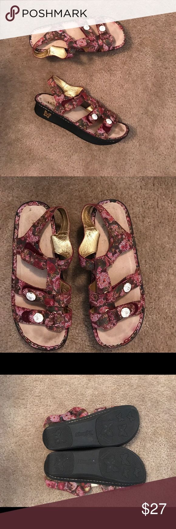 Alegria by PG Lite sandals shoes size 42 / 12 So pretty! Women's Alegria sandals size 42 (12 US). In good condition with minor scuffing. Alegria Shoes Sandals