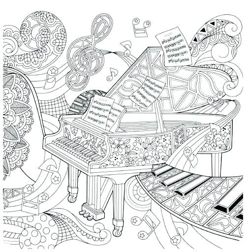 Musical Coloring Pages For Adult Coloring Page Printable ...