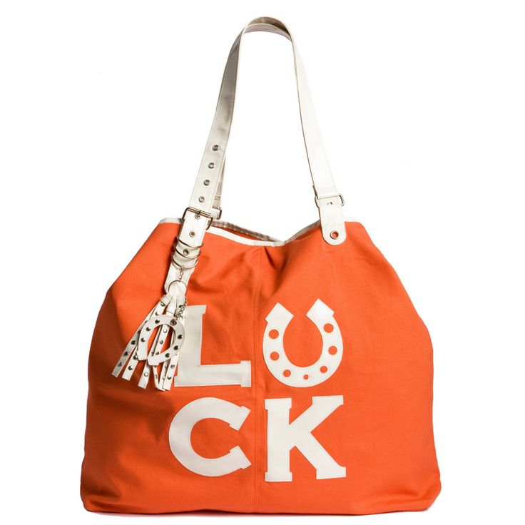 Good Luck Bag or Good Luck Charm. Big beautiful bag a great present for a sad friend. Orange bag