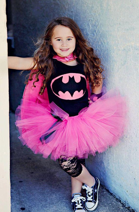 Rosa Batgirl disfraz Halloween Tutu por TutuGraceful en Etsy
