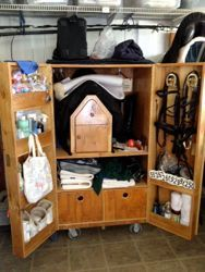 17 best images about tack trunk designs on pinterest for Tack cabinet plans