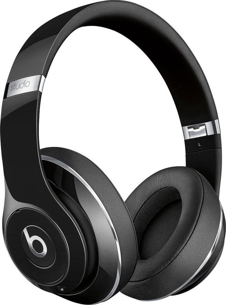 Beats by Dr. Dre - Geek Squad Certified Refurbished Beats Studio Wireless Over-Ear Headphones - Gloss Black