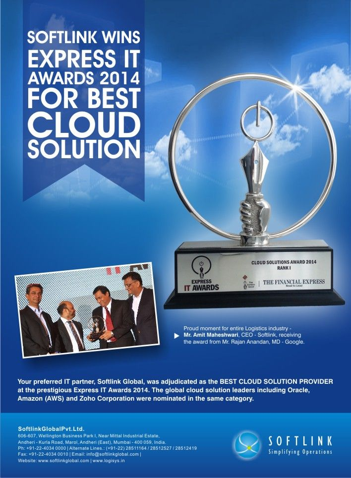 Softlink is declared as the 'IT Company of the Year' at MALA-2014  http://bit.ly/1W1yNfJ