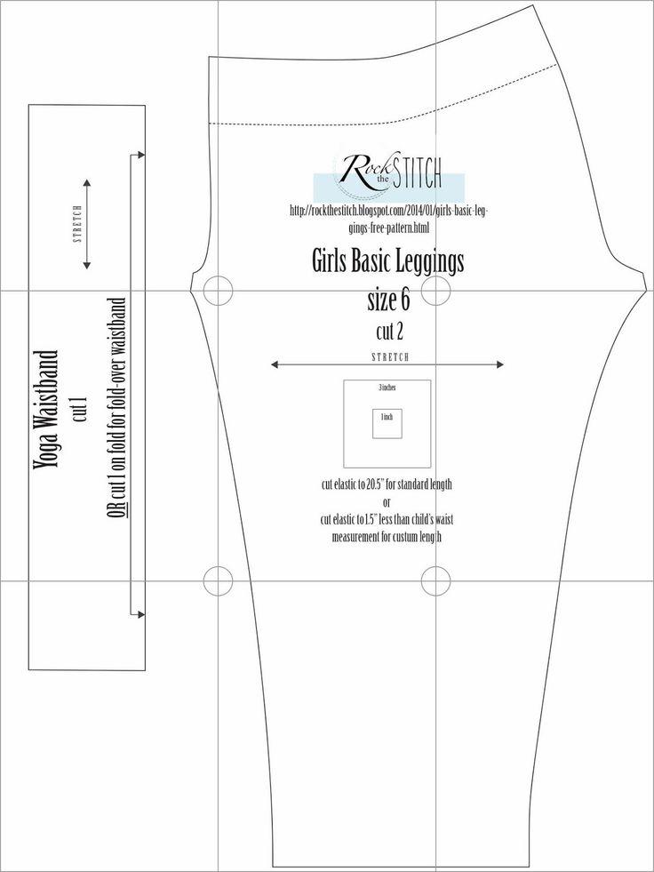 Rock the Stitch: Girls Basic Leggings - free pattern! Size 6