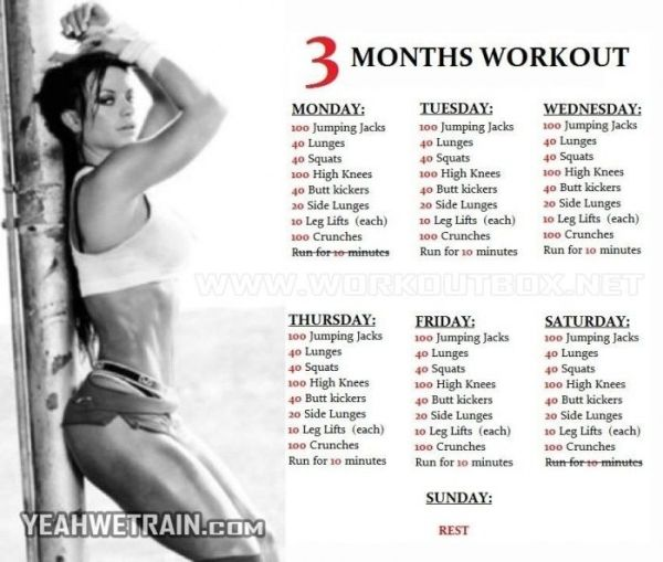 3 Months Workout Plan for Women - Sixpack Butt Legs Exercises Ab - Yeah We Train ! by Stoeps
