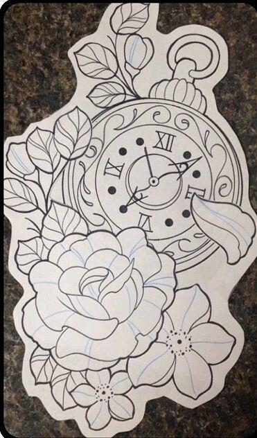 17 bästa idéer om Clock Tattoo Design på Pinterest ...
