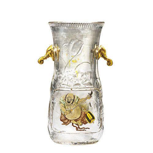 《象の頭の飾付花器》 1883-1885年頃デザインおよび制作:不詳 販売:パニエ兄弟商会エスカリエ・ド・クリスタル、パリデュッセルドルフ美術館蔵 | 「アール・ヌーヴォーのガラス」展が、パナソニック 汐留ミュージアムで開催される。期間は、2015年7月4日(土)から9月6日(日)まで。 左) 《花器(ブドウと... 写真1/9