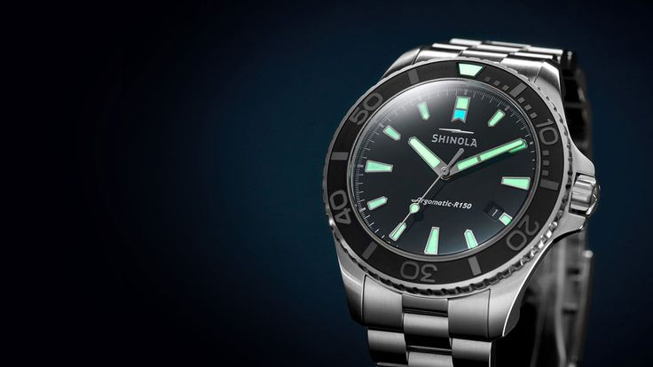 ** Shinola Lake Erie Monster Dive Watch ** The Shinola Lake Erie Monster Dive Watch ($2250) is not only the Detroit brands first dive watch, but their first watch with an automatic movement. Th...