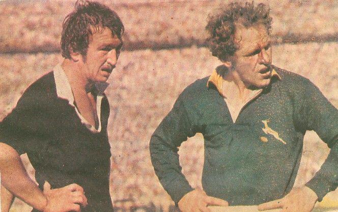 Tane Norton and Piston van Wyk. Fourth test 1976.