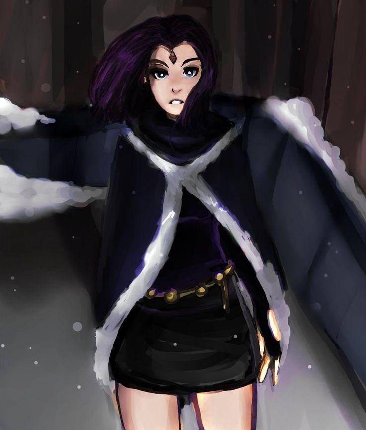 raven from teen titans  http://kaylakedziora.deviantart.com/art/modern-raven-585411890