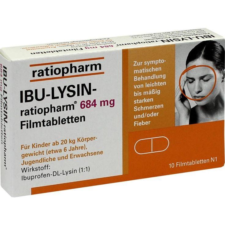 IBU LYSIN ratiopharm Schmerzmittel mit Ibuprofen:   Packungsinhalt: 10 St Filmtabletten PZN: 07628500 Hersteller: ratiopharm GmbH Preis:…