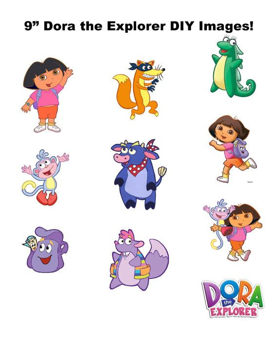 9 DIGITAL Dora the Explorer Centerpieces  by MountainViewCreation, $10.00