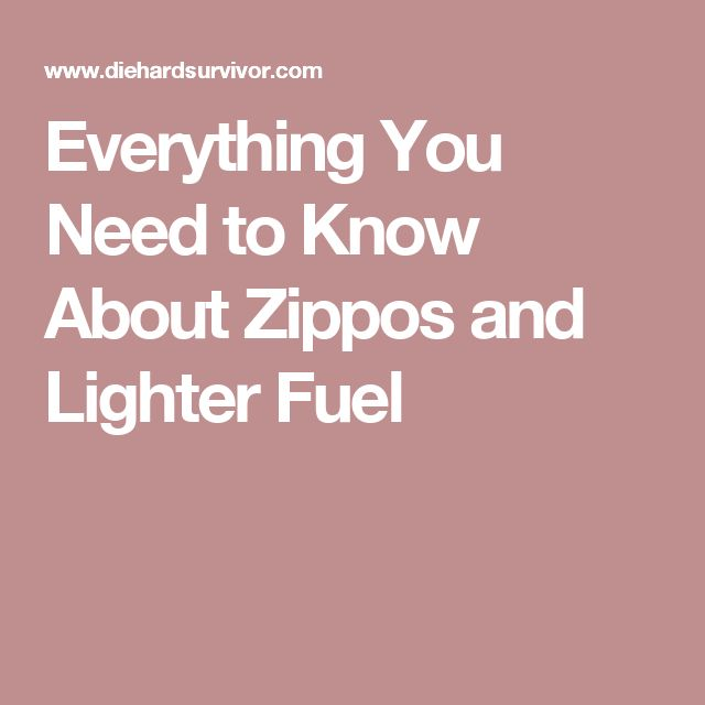 Everything You Need to Know About Zippos and Lighter Fuel