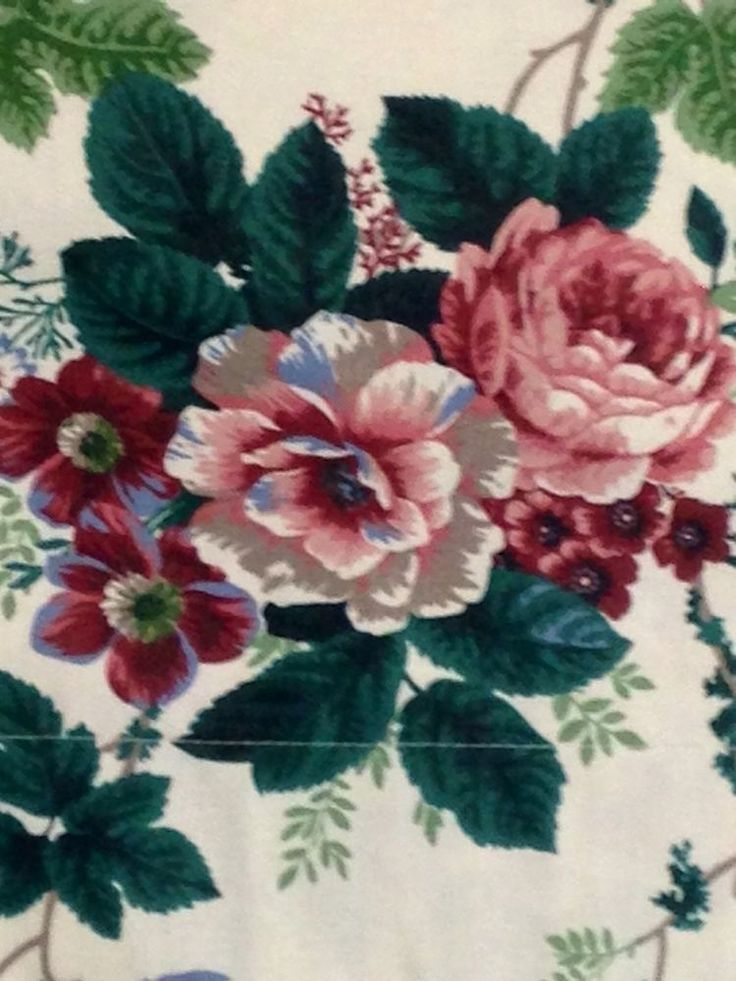 Waverly Valance Pleasant Valley Colonial Grapes Roses Curtain 15.5 x 76 VGC #Waverly