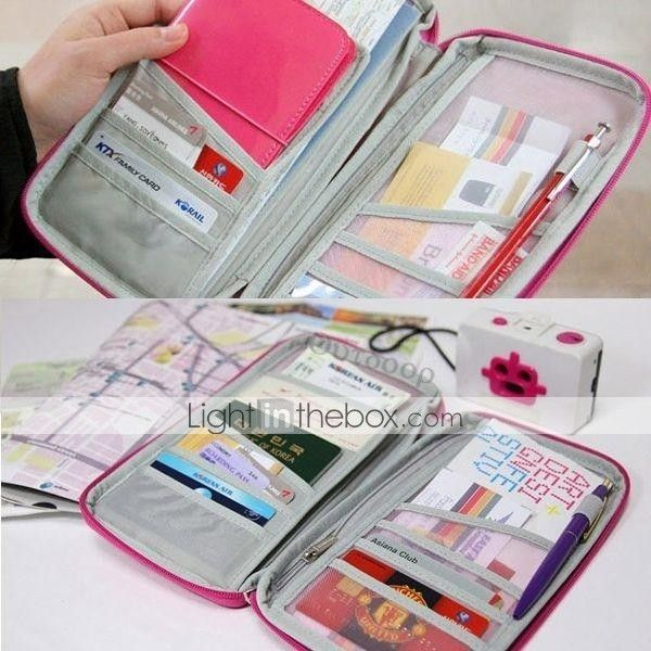 Travel Passport Credit ID Card Cash Holder Wallet Purse Case Makeup Pencil PC Bag Wedding Return Gift(More Colors) - AUD $ 8.21