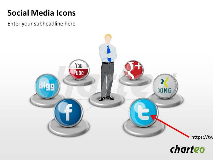 Have you already tried our social media icons for PowerPoint which will give your presentation a vivid atmosphere? Download now at http://www.charteo.com/en/PowerPoint/Icons-Symbols/Social-Media-Icons-1.html