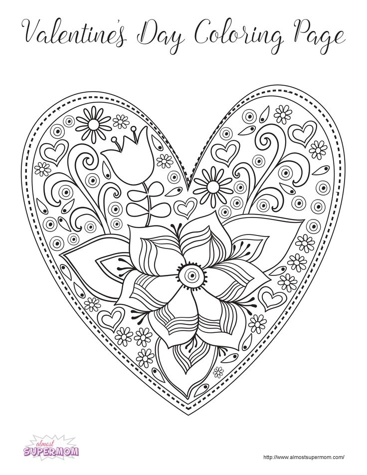 valentines day coloring page for adults 17 best images about coloring books and pages on 7929