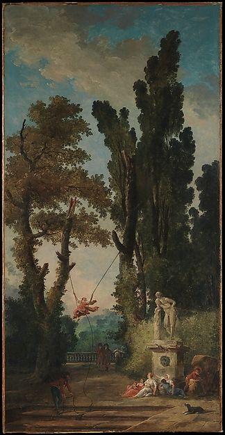 Hubert Robert (French, 1733–1808). The Swing, The Metropolitan Museum of Art, New York. Gift of J. Pierpont Morgan, 1917 (17.190.27) #paris