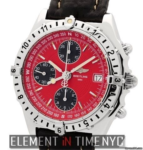 Breitling Chronomat Longitude Chronograph Red Dial Ref. A20048 Price On Request