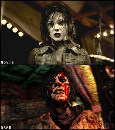 Dark Alessa - Silent Hill Revelation and Silent Hill 3 ( Video Game ) Comparisons