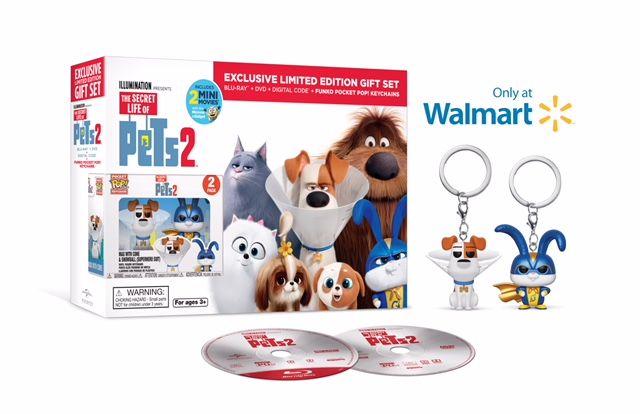Secret Life Of Pets 2 Walmart Exclusive Blu Ray Dvd Digital Copy Funko Pocket Pop Keychains Ad Exclu Secret Life Of Pets Secret Life Vinyl Figures