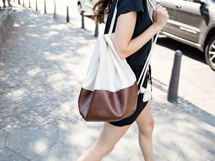 Tutoriel DIY: #Coudre un #sac marin en #cuir via DaWanda.com