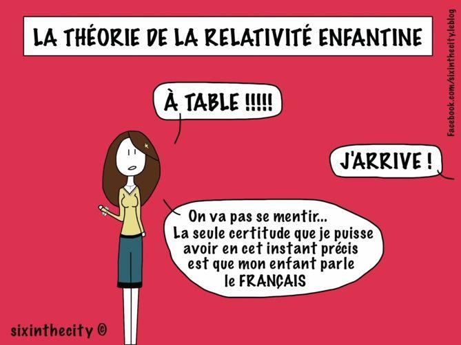 La Théorie de la Relativité Enfantine (billet écrit à quatre mains par Reine-Mère et Albert E.)