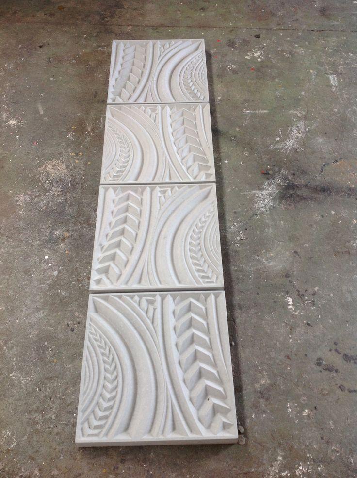 concrete tilt slab panels CNC carved  Jacob Scott 2013