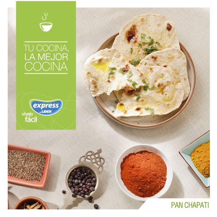 Pan Chapati. #Recetario #Receta #RecetarioExpress #Lider #Food #Foodporn #India…