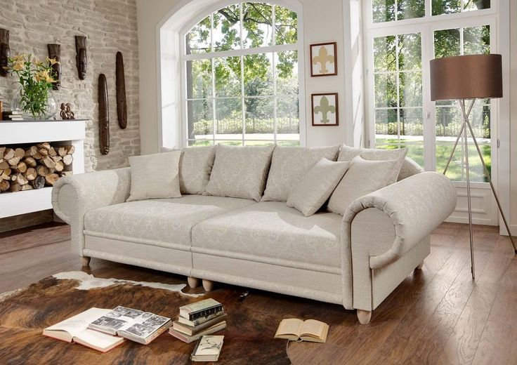 Big Sofa Julia Kolonialstil XXL Mega Kolonialsofa Federkern Shabby Chic