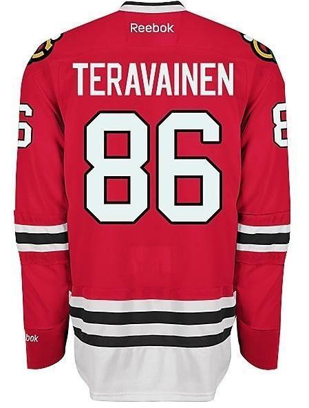 buy online 911d9 ddcb7 Mens Chicago Blackhawks Teuvo Teravainen Premier Home Jersey