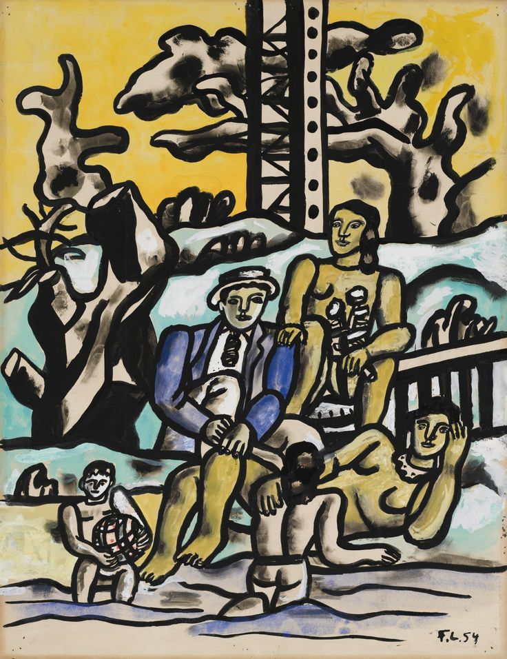 'Étude pour La partie de campagne' (1954) by Fernand Léger