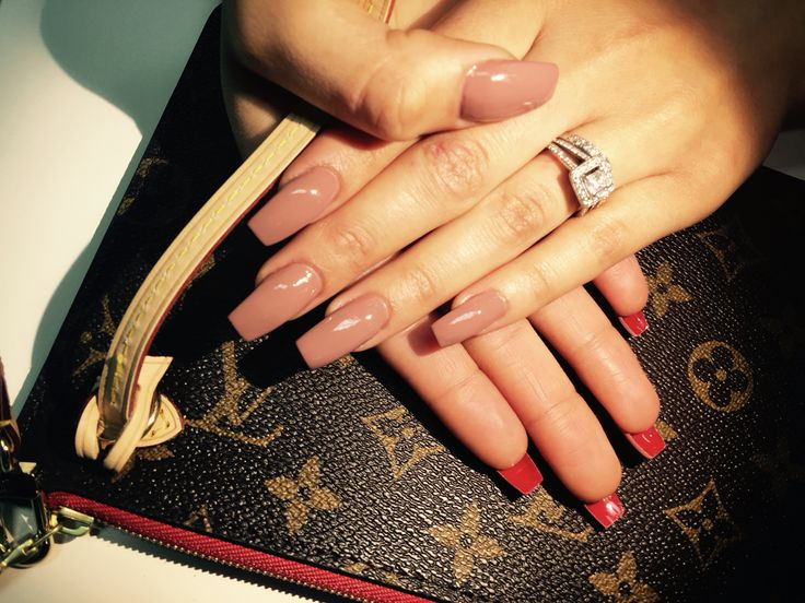 Red bottom nude nails