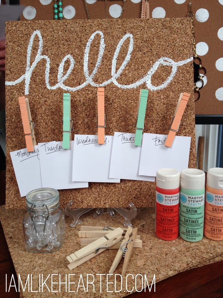 How to give your cork board a facelift http://youtu.be/MNHQHZ4VquQ