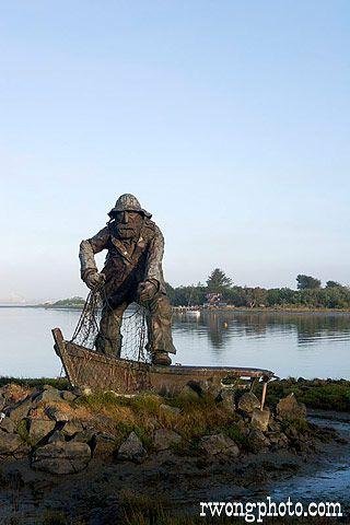 The Fisherman Statue at Woodley Island Marina, Eureka, California